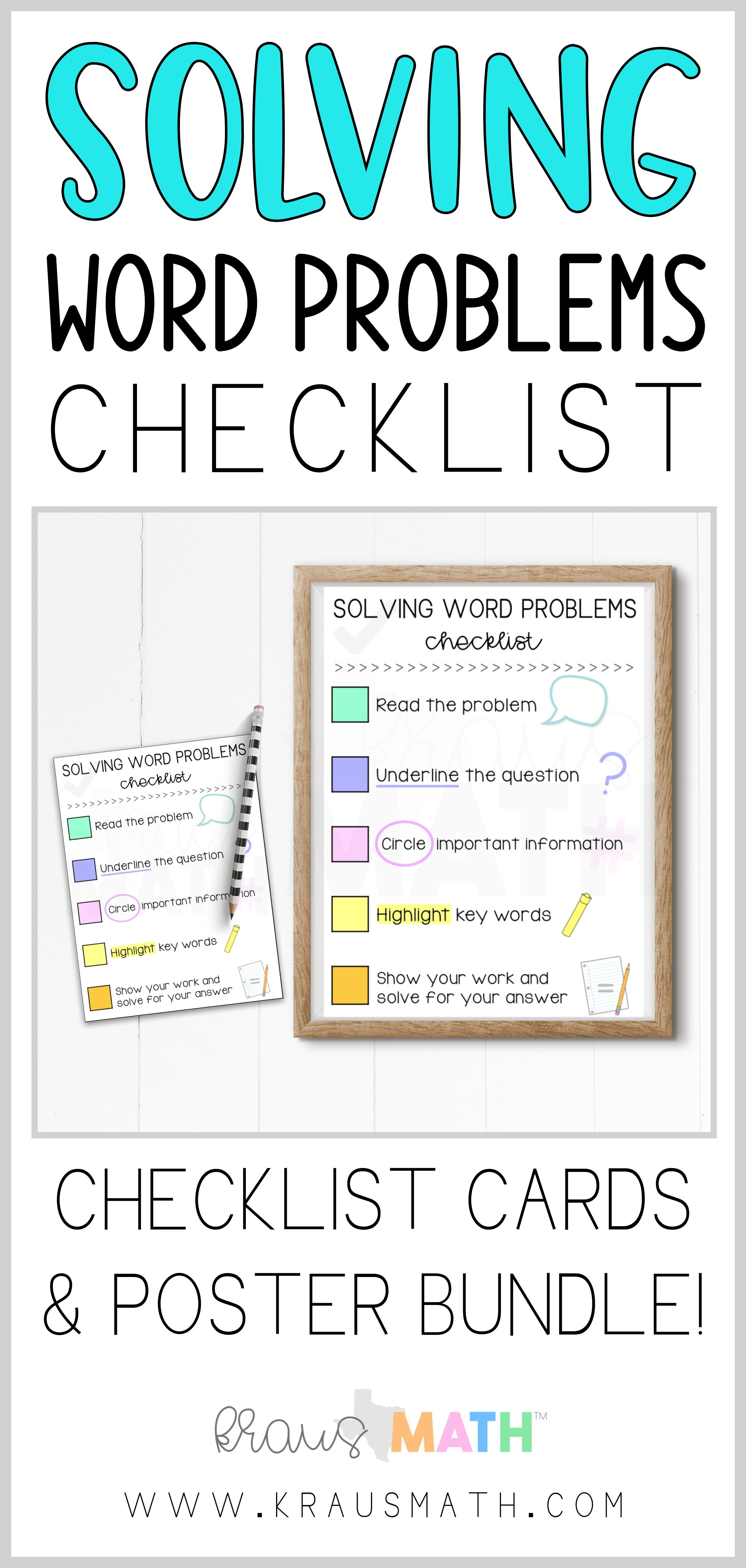 Solving Word Problems Step By Step Checklist Anchor Chart This Can Be Used In All Grades A Great To Solving Word Problems Word Problems Math Word Problems [ 5250 x 2500 Pixel ]