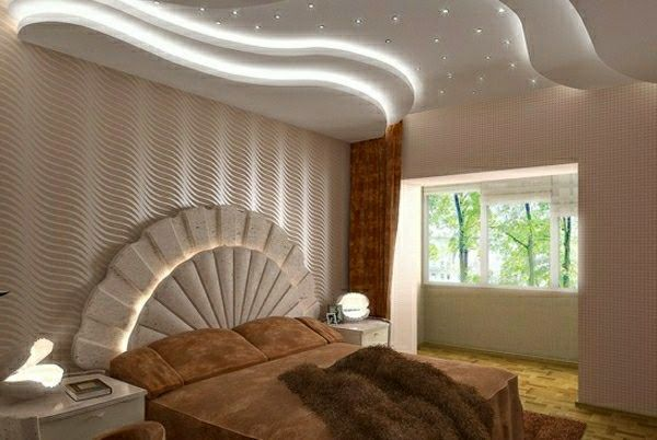 20 luxury false ceiling designs made of pvc gypsum board for Bedroom false ceiling designs with wood