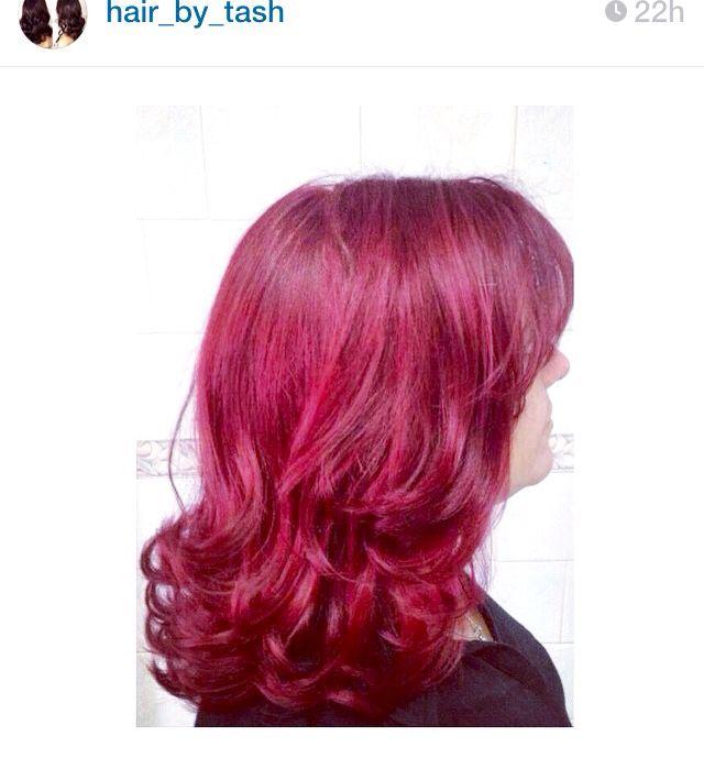 My Ruby Red/violet hair