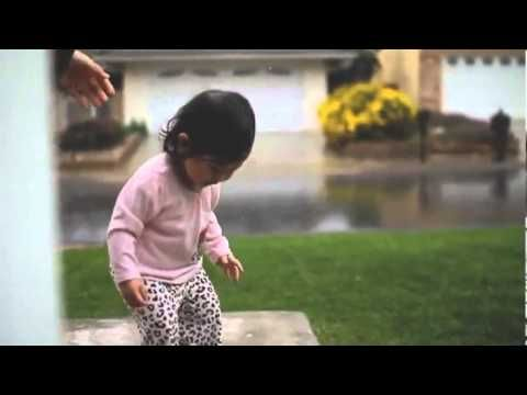 Toddlers First Time Playing In The Rain - YouTube