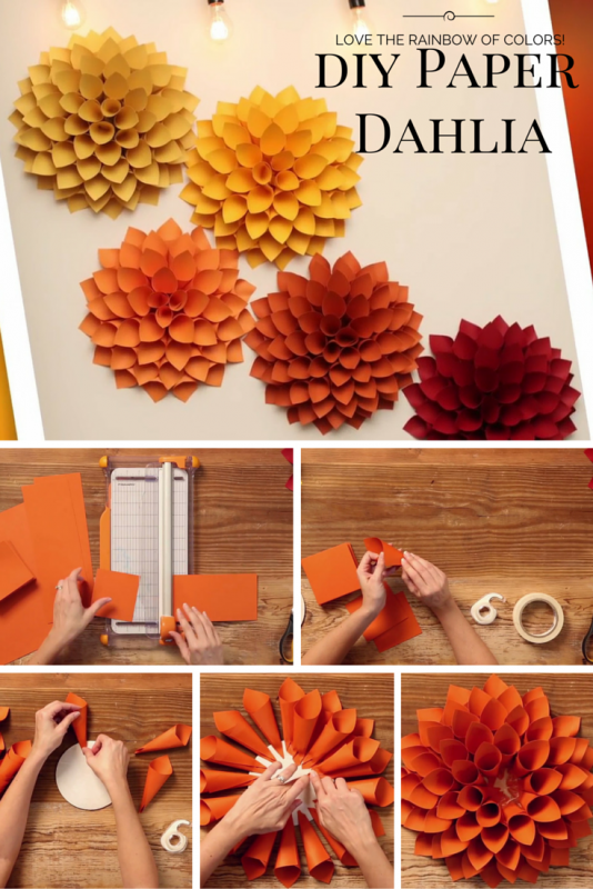 DIY Paper Dahlia – The Oversized Paper Version of the Beloved Spring Flower - The Inspired Bride