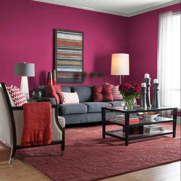 Accent Colors For Gray Living Room: Color Of The Month, September 2014: Sangria