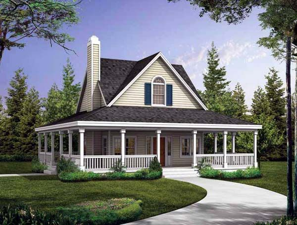 Southern Style House Plan 90234 With 2 Bed 3 Bath Victorian