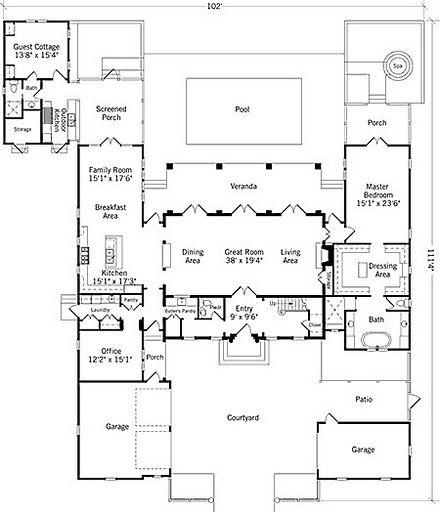 316dd42962549d7b498e35af3b35e082 future home? palm garden retreat coastal living (plan sl 1113,Southern Living Pool House Plans