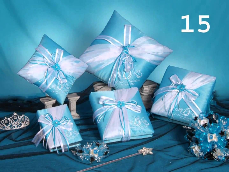 Resultado De Imagen De Album De Xv Años Azul Rey Cojines