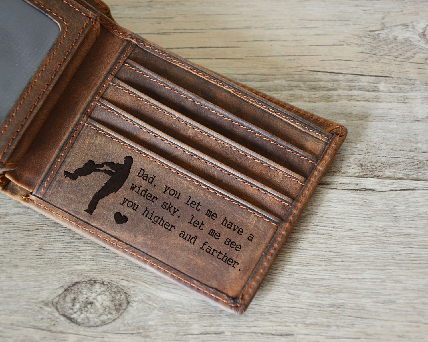 Personalized men's leather Wallet,man leather Wallet,Engrave