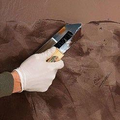 Appliquer Un Enduit Decoratif A Effet Tadelakt Peinture Tadelakt Tadelakt Design De Mur