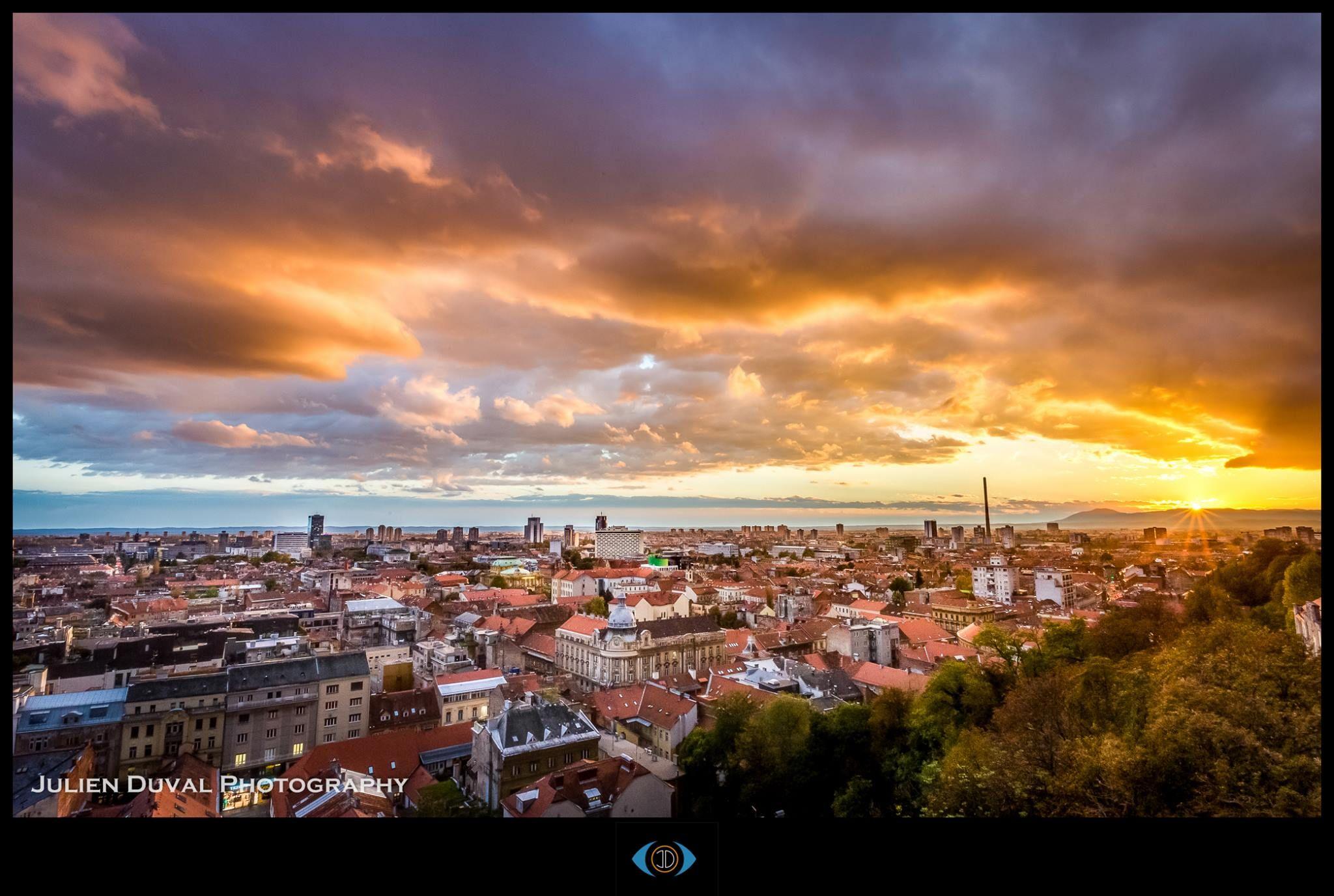 Za Nikaj Na Svetu Ja Menjal Te Ne Bi Photo C Julien Duval Zagrebfacts Zagreb Zg Agram Sunset Skyporn Zagreb Most Beautiful Cities Zagreb Croatia