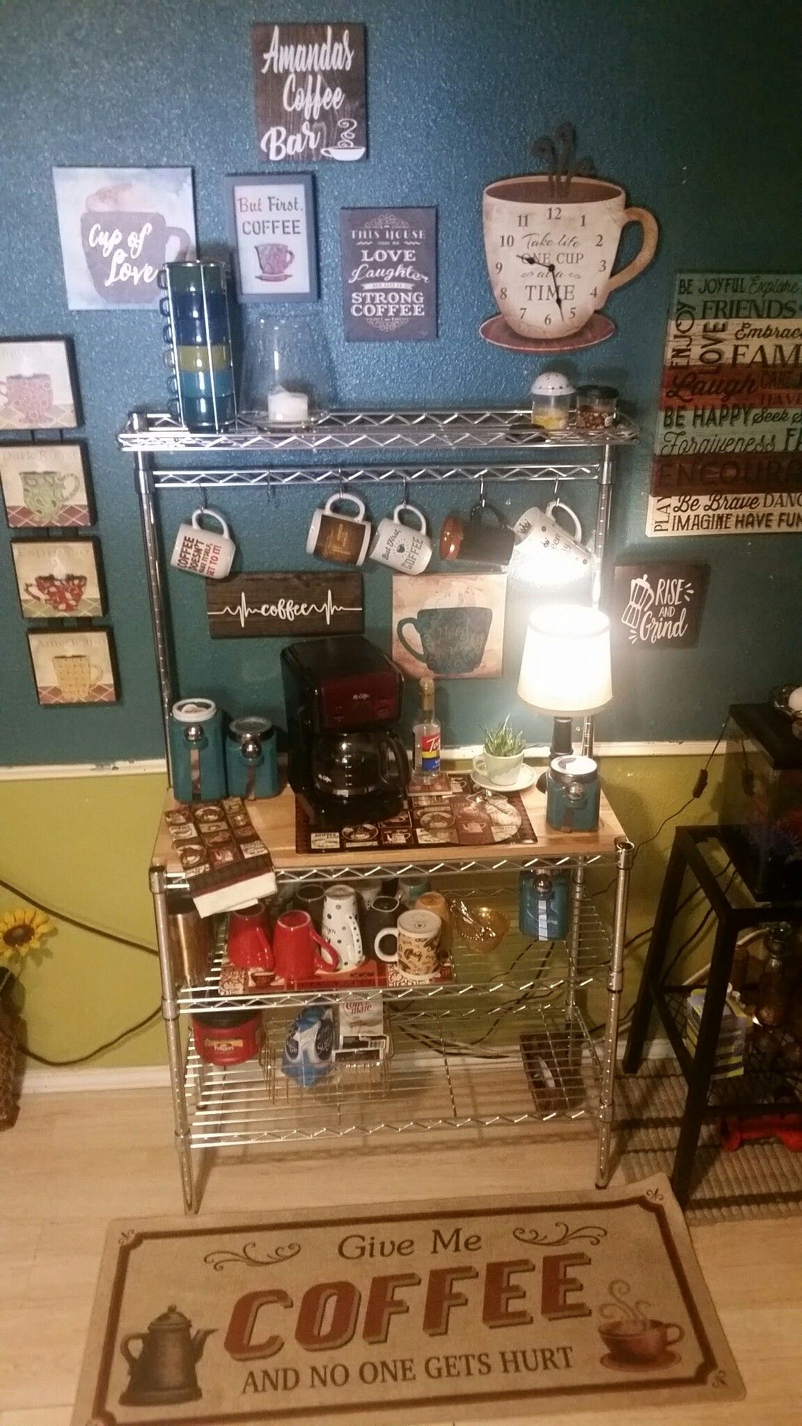 Coffee Bar Coffee Bar Ideas Bakers Rack Ideas Bakers Rack Coffee