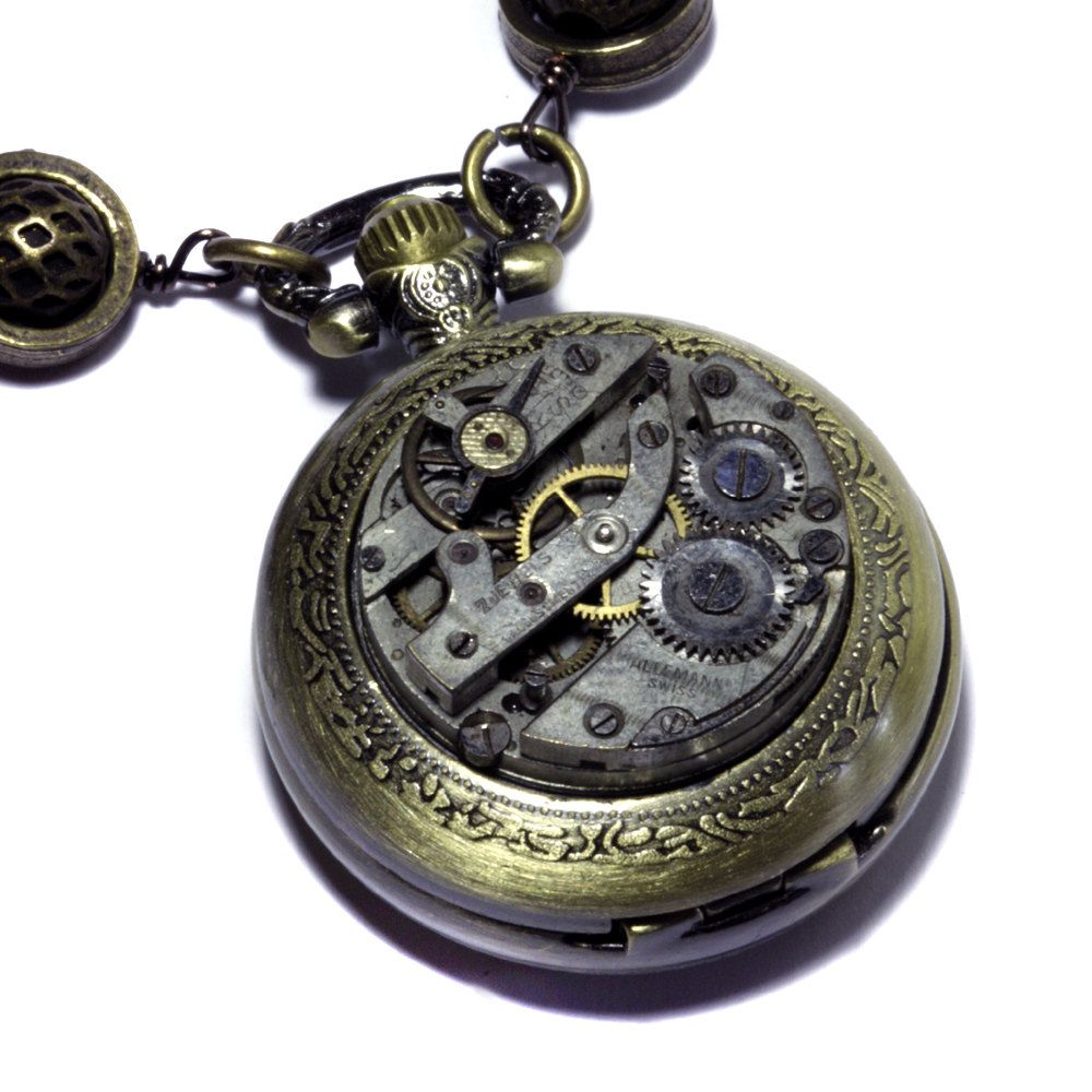 Steampunk Necklace -  POCKET WATCH. $90.00, via Etsy.