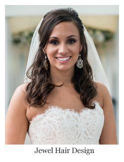 Romantic Bridal Hair Half Up Half Down Soft Curls With Veil