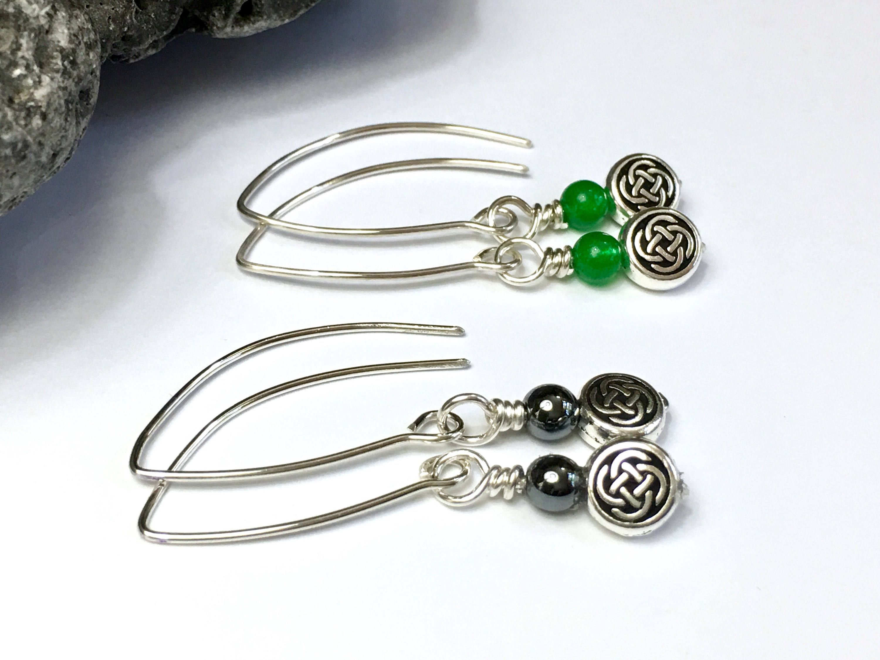 earrings irish pin sterling cross silver vtg celtic jewellery jewelry