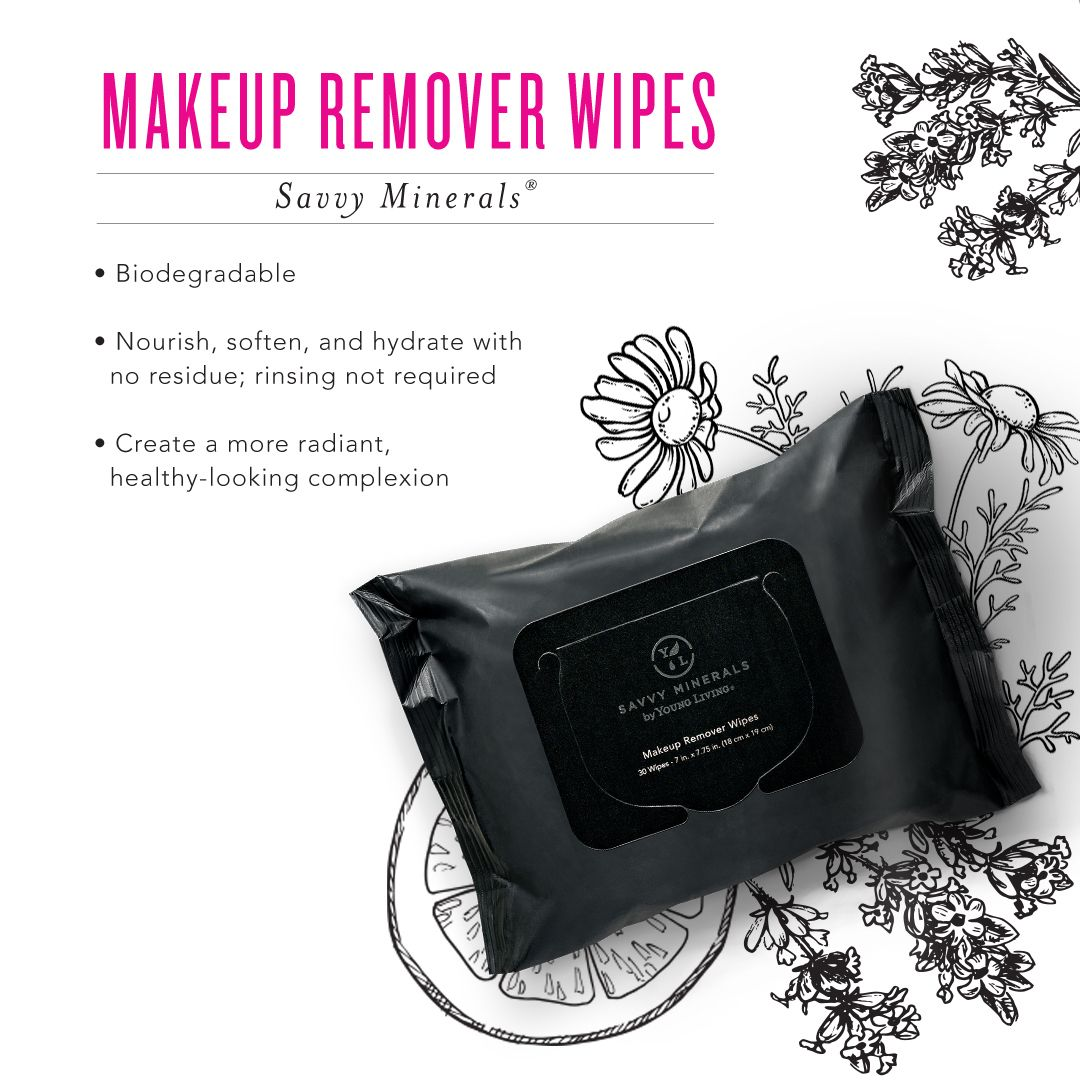 Makeup Remover Wipes 30 count Savvy minerals, Makeup
