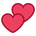 Two Hearts On Htc Sense 7 Heart Emoji Two Hearts Emoji
