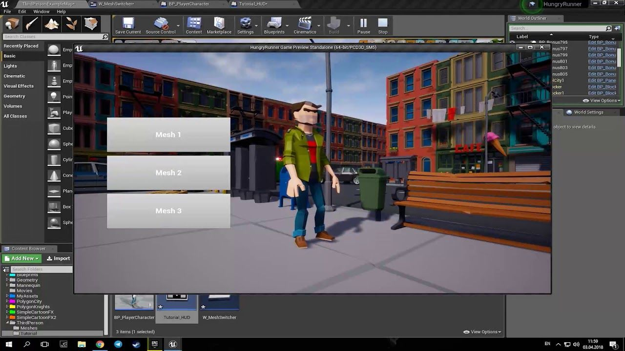 Character Switching Unreal engine, Engineering, 3d tutorial