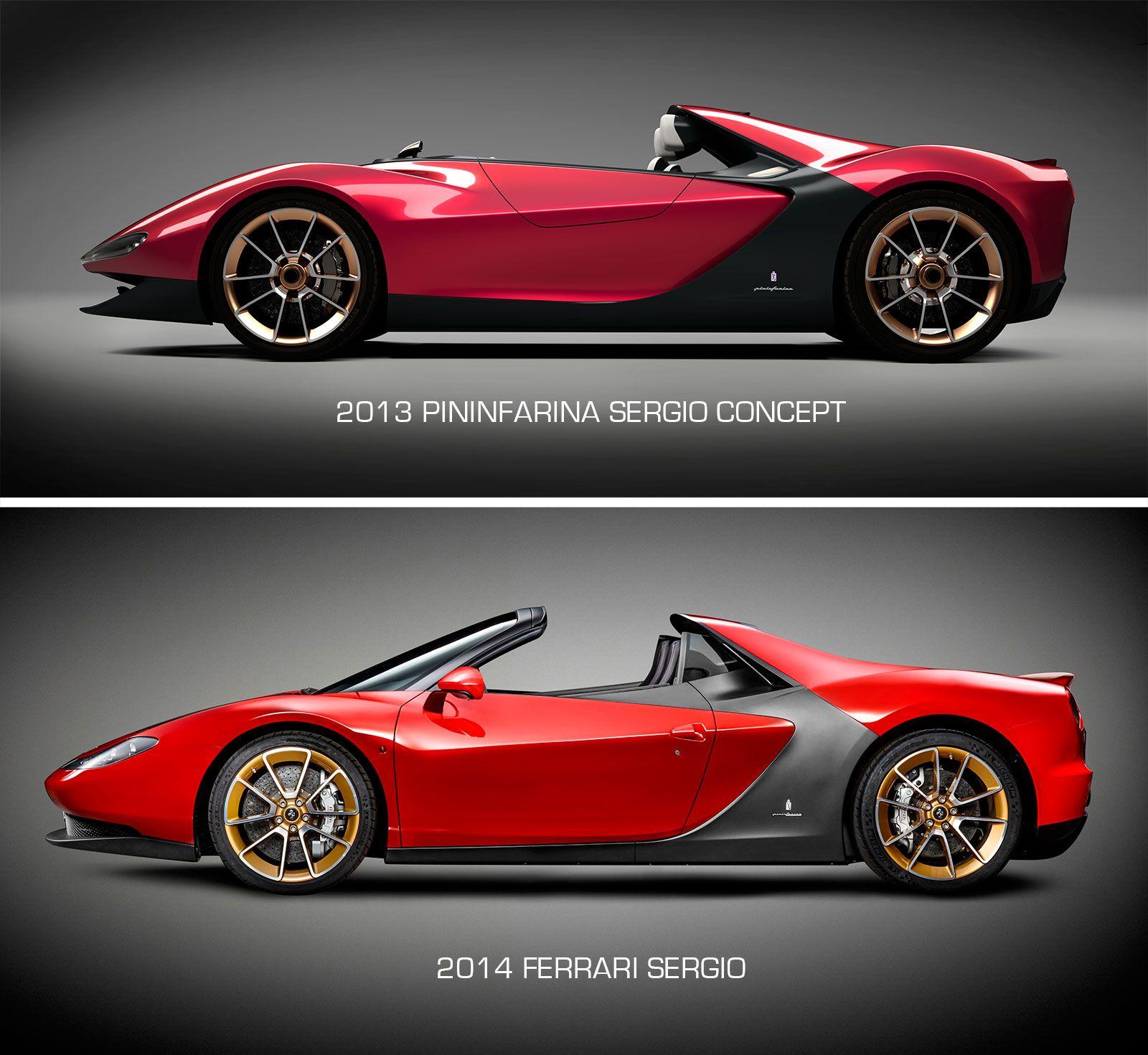 Ferrari Sergio   Pininfarina Sergio Concept Design Comparison