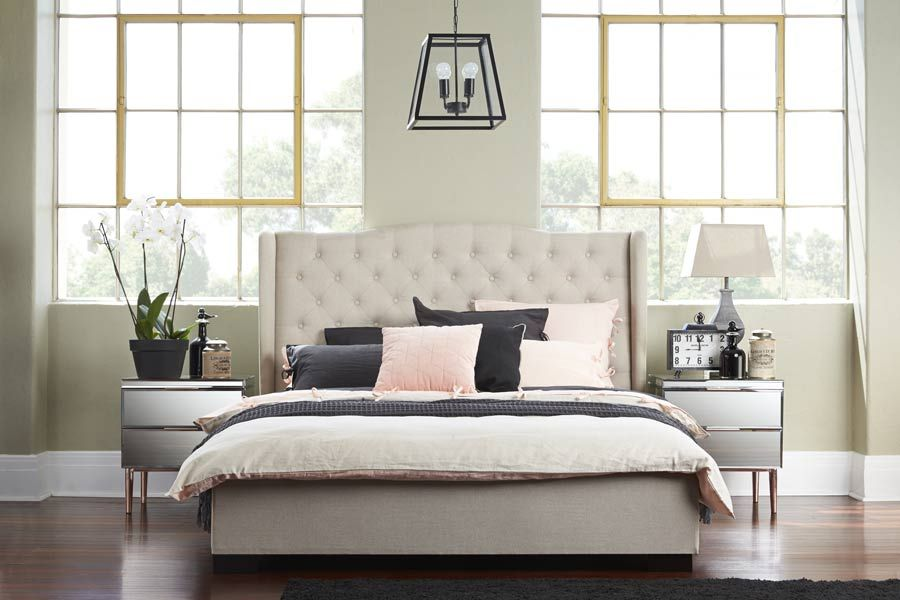 avian upholstered queen bed bedshed - Upholstered Queen Bed