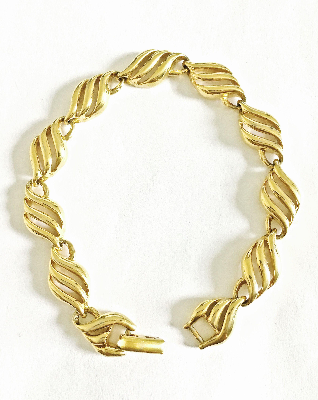 Vintage Signed Napier Gold Toned 7 1 4 Bracelet With