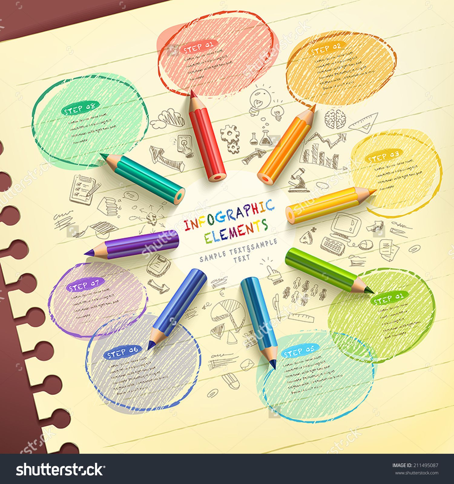 stock-vector-creative-template-infographic-with-colorful ...