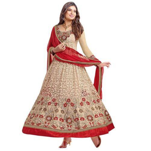 Women Faux Georgette Anarkali Dress Material