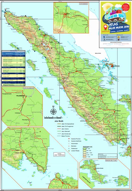 Atlas Peta Jalur Mudik Lebaran Idul Fitri  Pendidikan Kewarganegaraan