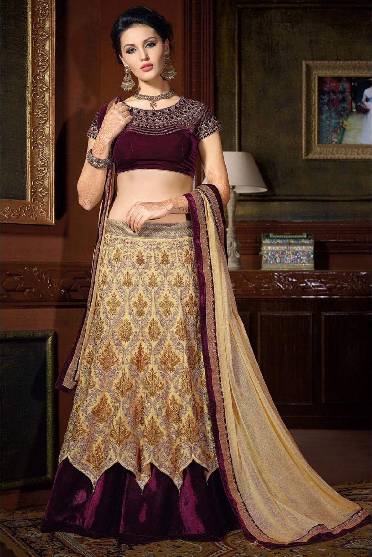 5a424d4eb2 Net Designer Lehenga Choli in Cream ColourIt Comes with matching Dupatta  and Choli.It is crafted with Embroidery,Lace Work,Patch Work.