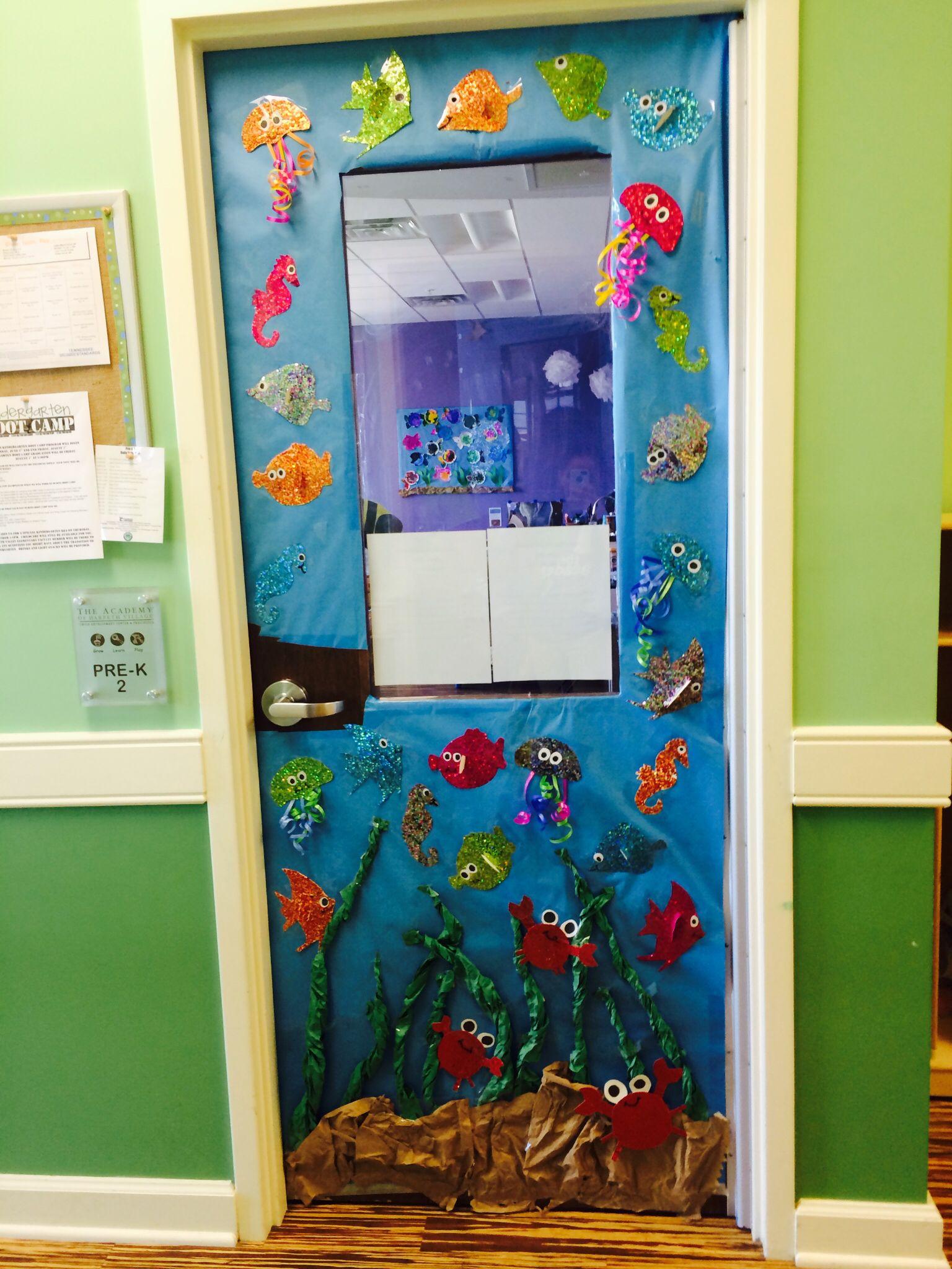 My Pre K Door Under The Sea With Images Classroom Decor Diy