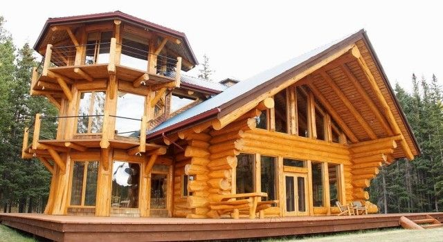 Tower Log Home Design