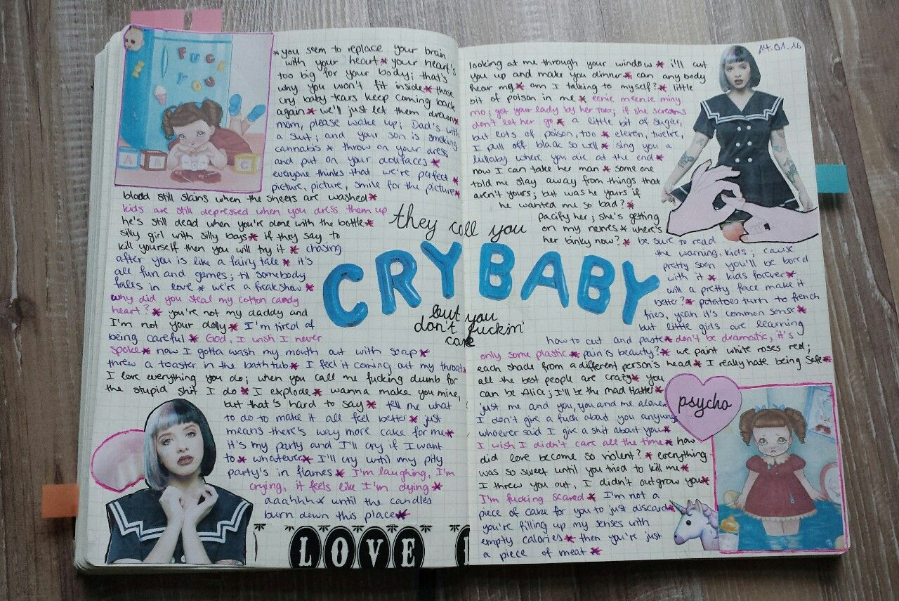 I did a Melanie Martinez inspired page in my journal and I think ...