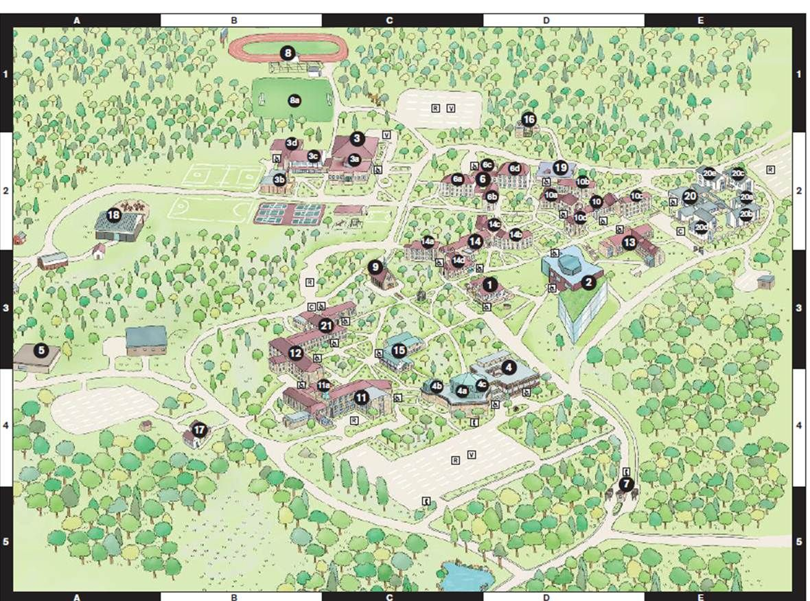 The Campus Map. By Goucher College Communications | Athenaeum & the ...