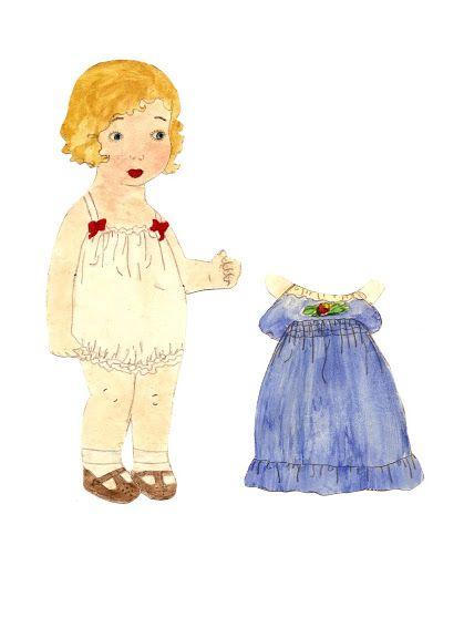 Hjemmetegnede påklædningsdukker fra 1940èrne. Homemade Paper Dolls from the 1940s - maria cristina rosales - Picasa Web Albums