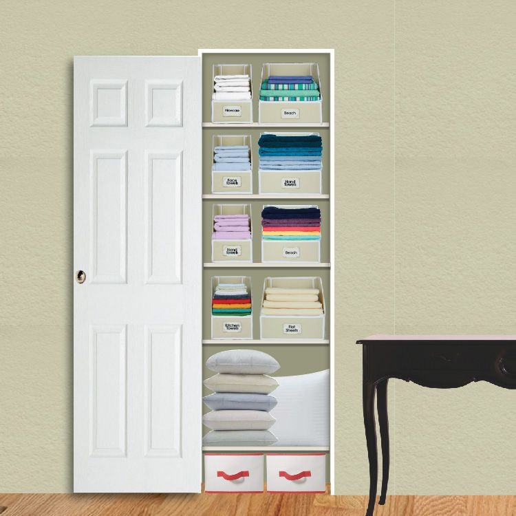 Linen closet organization systems home decor - Storage solutions for small closets ...