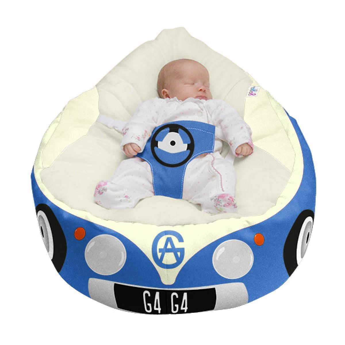 Buy Gaga Luxury Cuddlesoft Baby Bean Bag   Iconic Campervan Blue From Our  Pouffes, Bean Bags U0026 Cubes Range At Tesco Direct.