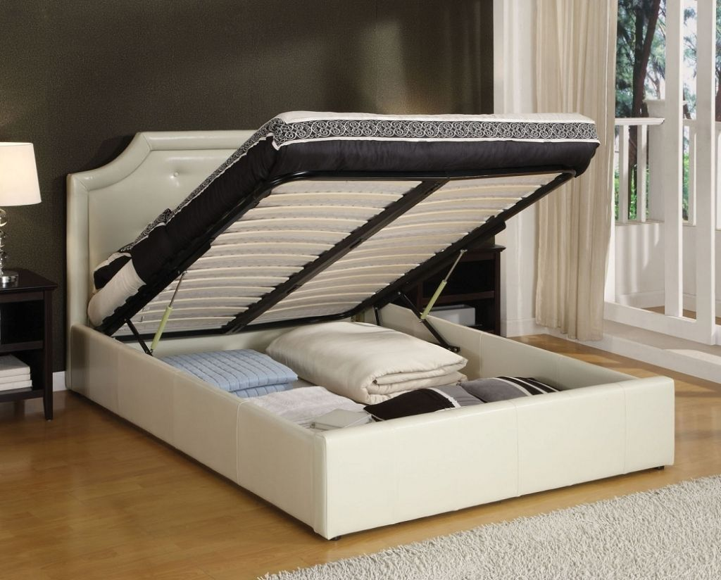 Awesome Queen Bed With Drawers Underneath Bed Frame With Storage