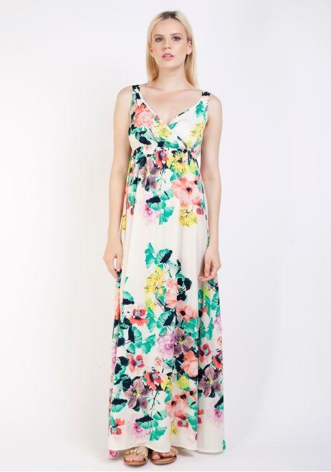 Vila, rochie maxi cu imprimeu floral
