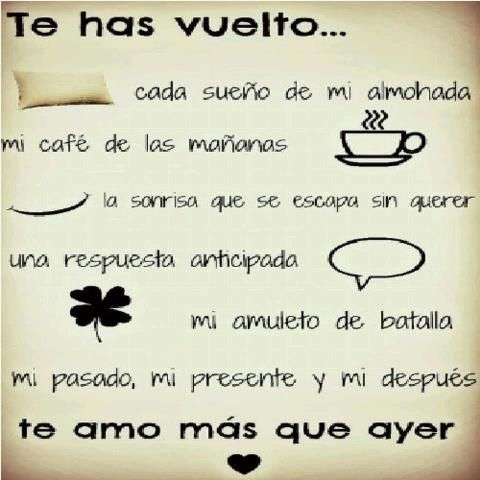 Frases Quotes Eres Amor Felicidad Sonrisa Cafe Almohada