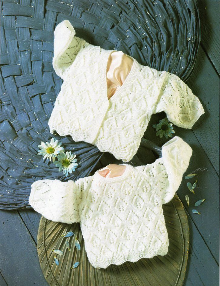 Baby 4ply Sweater Cardigan Knitting Pattern Pdf Premature Baby Lacy