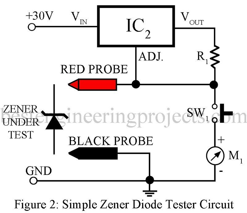 in this article we have posted two different circuit to test zener rh pinterest com Parallel Circuit Diagram Electronic Circuit Diagrams