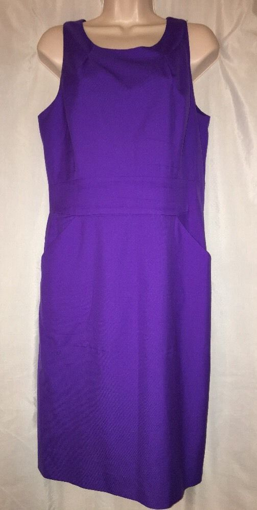 J Crew Shift Dress Purple Sz 10 Lightweight Wool Sleeveless Lined ...
