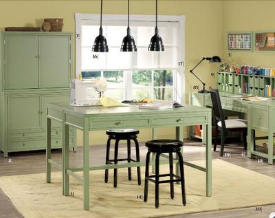 Work Table Homeschool Room House Ideas Taller De Costura