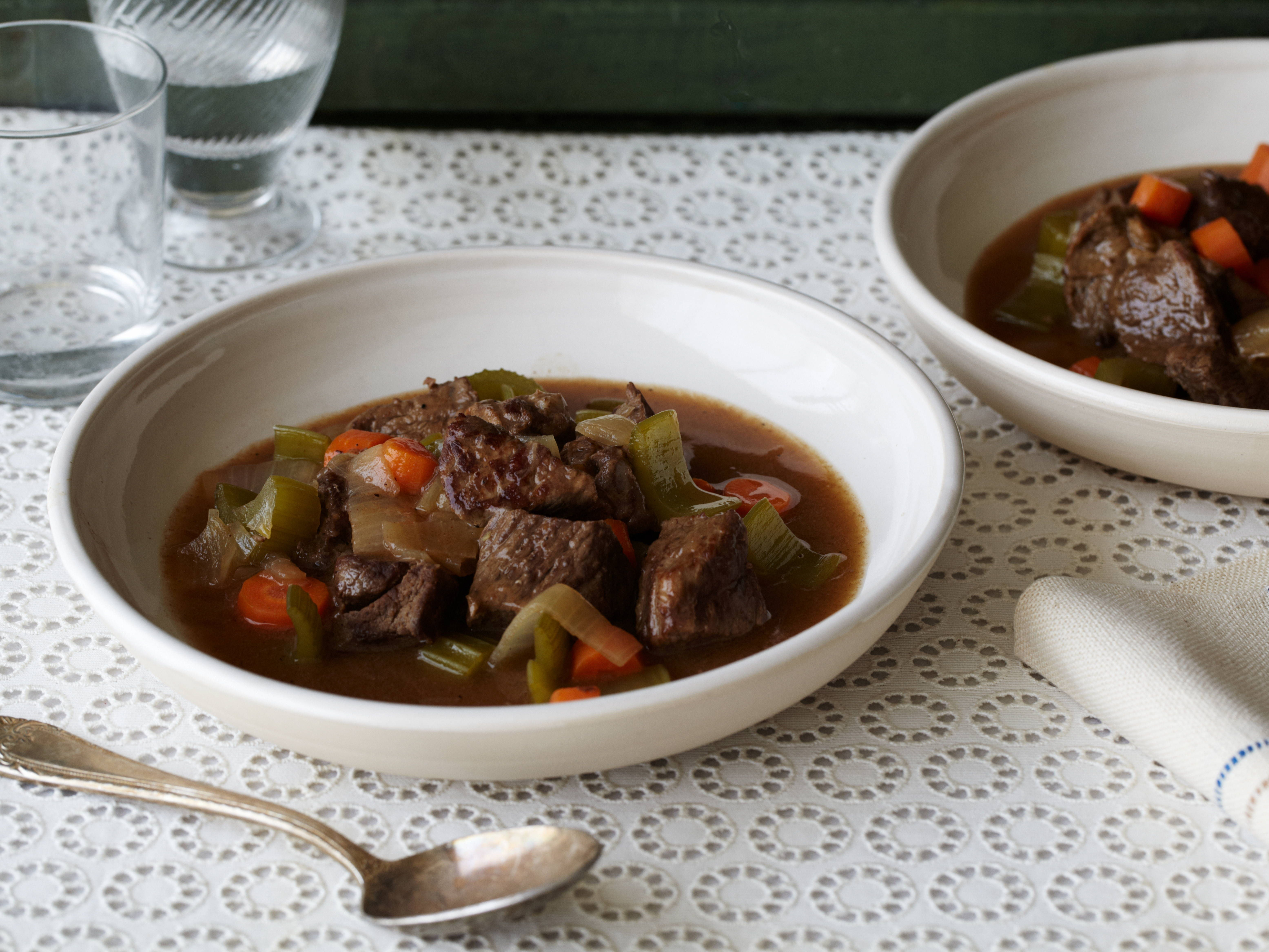 This Really Is A Delicious Stew Recipe I Made And Recommend The Following Adjustments 1 Use Homemade B Beef Stew Recipe Stew Recipes Food Network Recipes