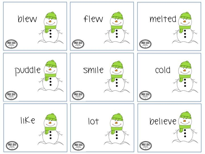 FREEBIE Artic cards for Sneezy the Snowman! From Bright Ideas: SLP