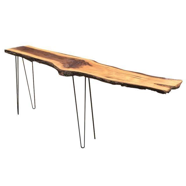 Image of Diy Raw Edge Black Walnut Sofa Table
