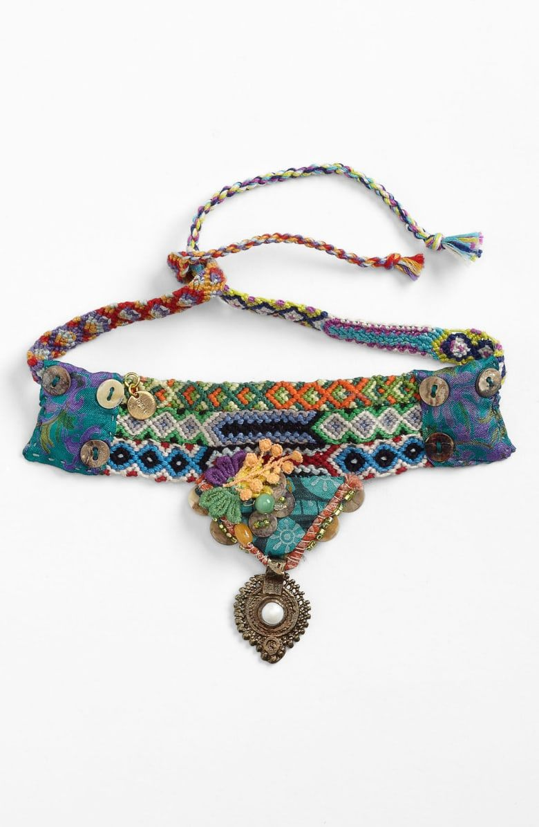 Free shipping and returns on Chan Luu Friendship Bracelet at  Tie on a token of friendship with a colorfully woven bracelet accented with glass seed buttons and other eth...