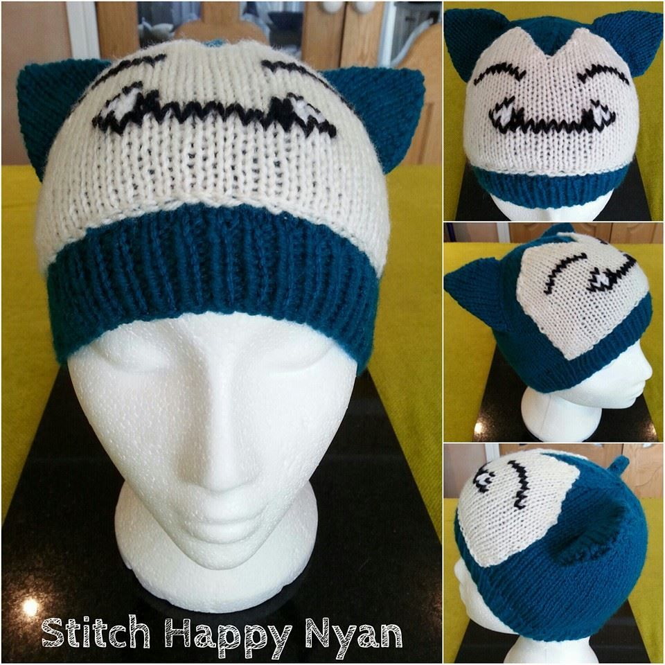 9070d64cad1 Knitted Pokemon character hat (Snorlax). For cosplay or just for fun ...