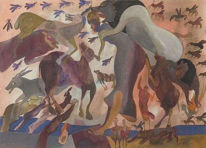 Las Avispas By Francisco Toledo Pinturas Mexicanas Artista Grafico Arte