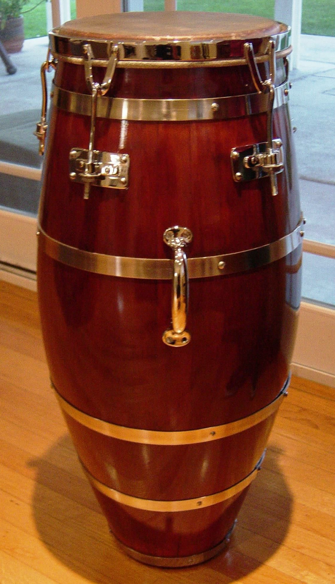 My Vintage Cuban Conga Made By Using Wine Barrel Staves Artisan Candido Requena Circa 1950 Percussion Instruments Congas Percussion
