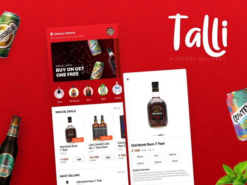 Talli Alcohol Delivery App Delivery App Alcohol Delivery