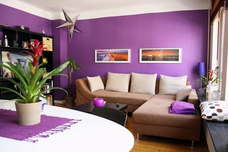 Wohnzimmer Lila ~ Wohnzimmer mit lila wänden. #wohnzimmer #lila #livingroom wohnen