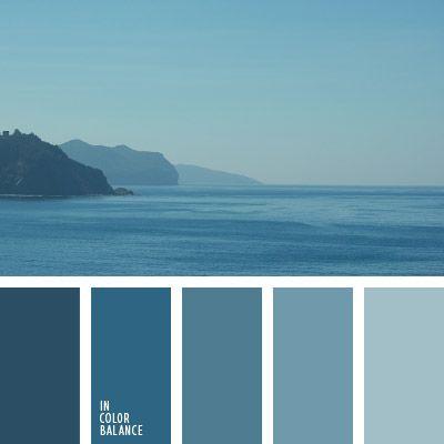 Monochrome Blue color inspiration color palette Pinterest